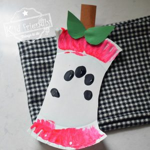 apple core craft for kids