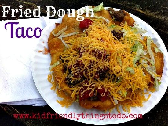 Fried Dough Tacos! Festival Food, Oh yum!