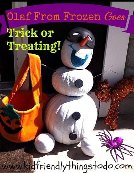 Olaf Halloween Pumpkin Idea – Kid Friendly Things To Do