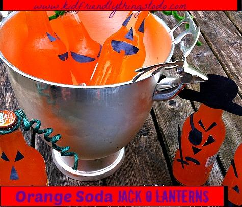 Orange Soda Jack O Lantern Craft & Party Drink Idea – Kid Friendly Things To Do .com