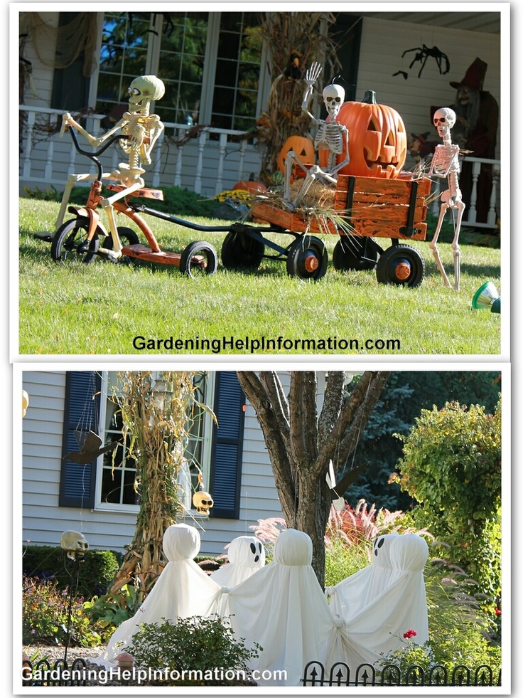 Hilarious skeleton decorations for your yard on halloween for 90 cool outdoor halloween decorating ideas