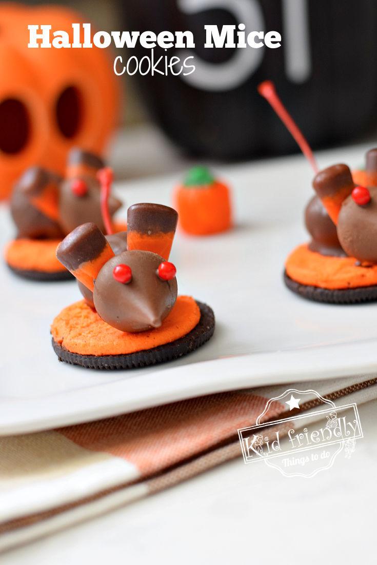 Halloween Mice Chocolate Cherry Cookies