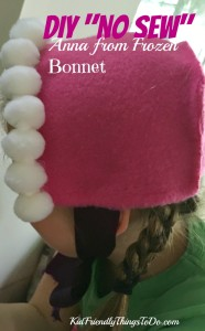 A No Sew Anna Bonnet From Frozen – Kid Friendly Things To Do .com