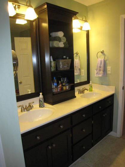 Diy Glued On Mirror Makeover A Bathroom Renovation On A