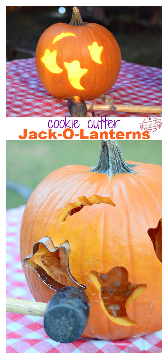 carve pumpkins with a cookie cutter