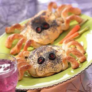 Halloween party food - spider sandwich