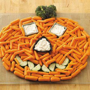 Halloween Jack-O-Lantern Vegetable platter