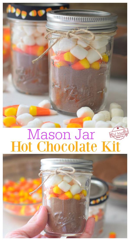 easy mason jar hot chocolate gift
