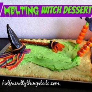 Melting Witch Dessert for Halloween