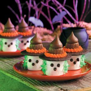 Halloween party food - witch marshmallow