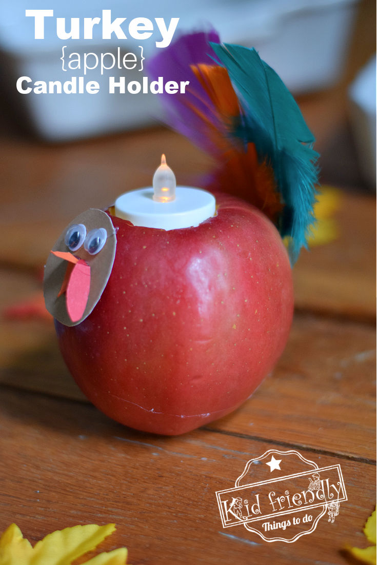 turkey candle craft for the table