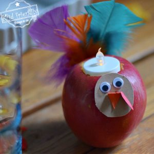 turkey candle craft Thanksgiving table decoration