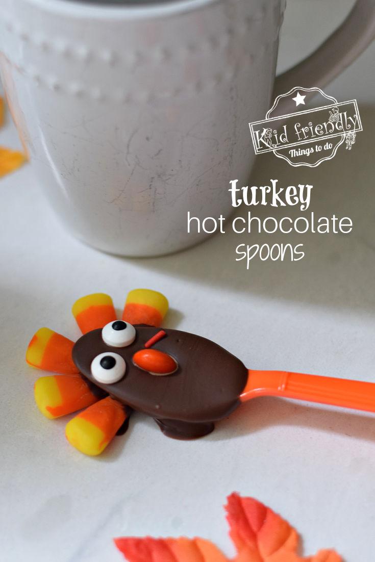 Turkey Thanksgiving Hot Chocolate Spoon