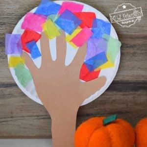 Hand-print tree craft