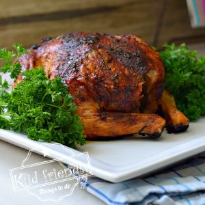Easy No Marinade Apple Cider & Herbs Roasted Chicken