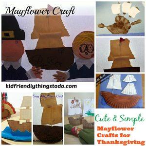 Mayflower crafts for kids