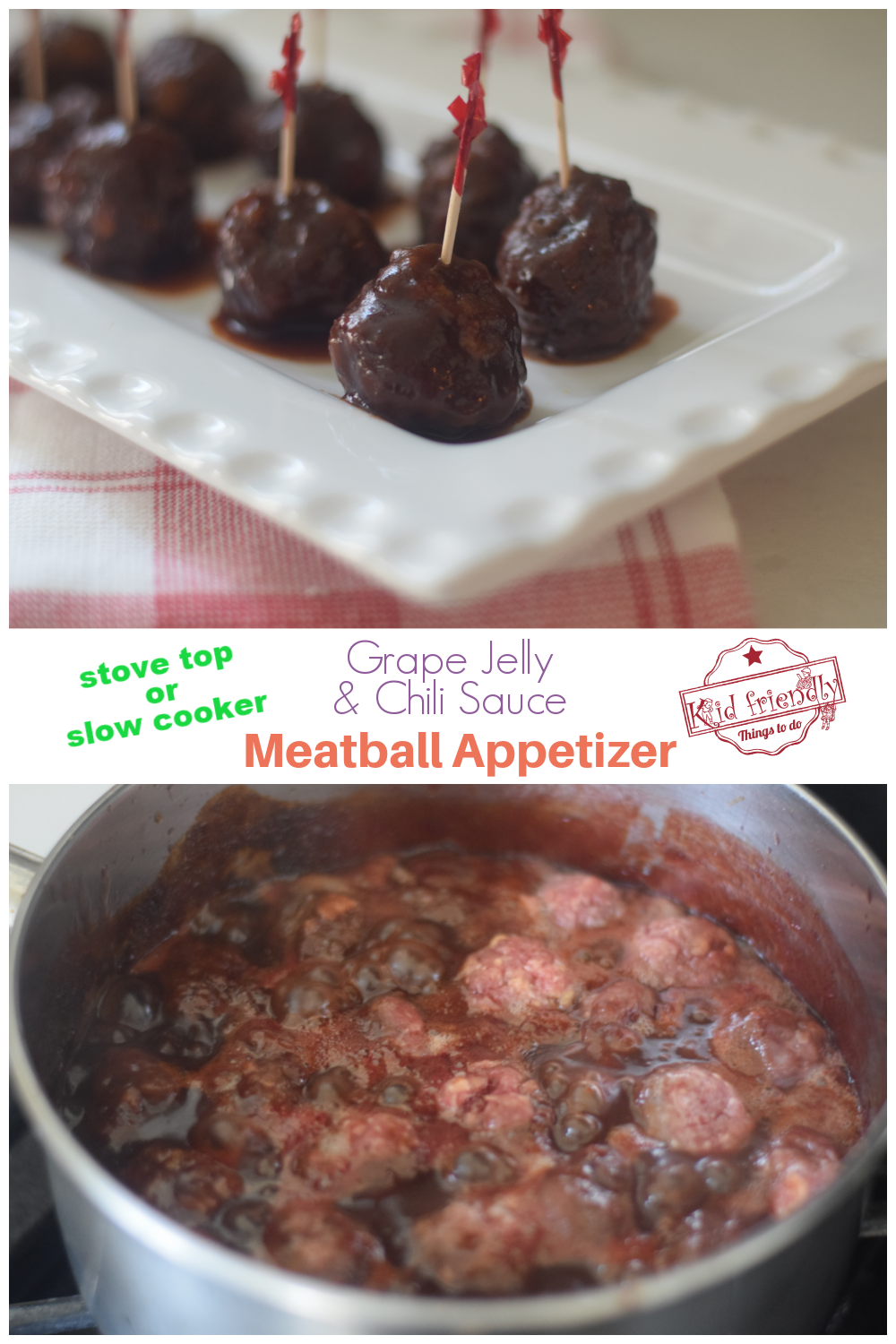grape jelly meatballs with chili sauce