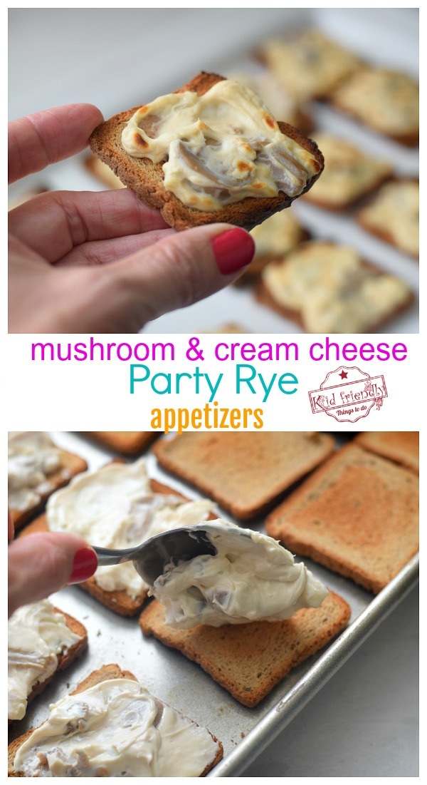 cheesy party rye appetizers