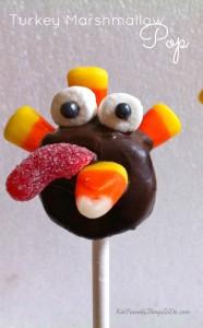 Thanksgiving Turkey Marshmallow Lollipops