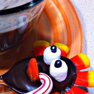Chocolate Turkey Spoon for a Thanksgiving Fun Food! Perfect for Hot Cocoa Bars! - KidFriendlyThingsToDo.com