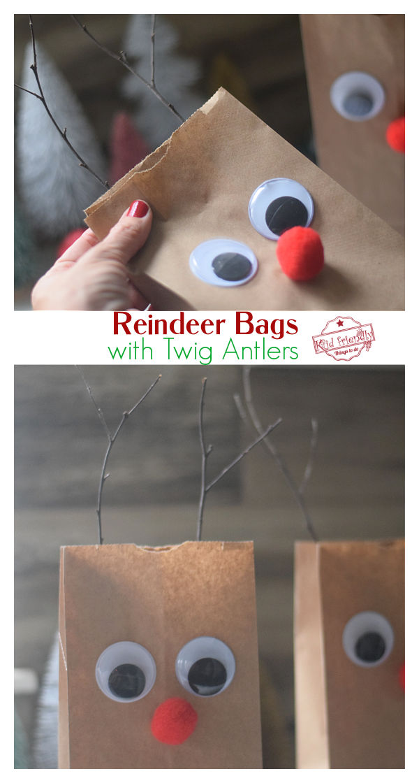 Rudolph Christmas Bag Craft