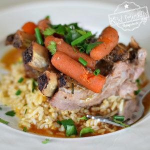 Ginger and Honey Pork Spare Ribs With Herb & Citrus Rice {Slow Cooker} | Kid Friendly Things To Do