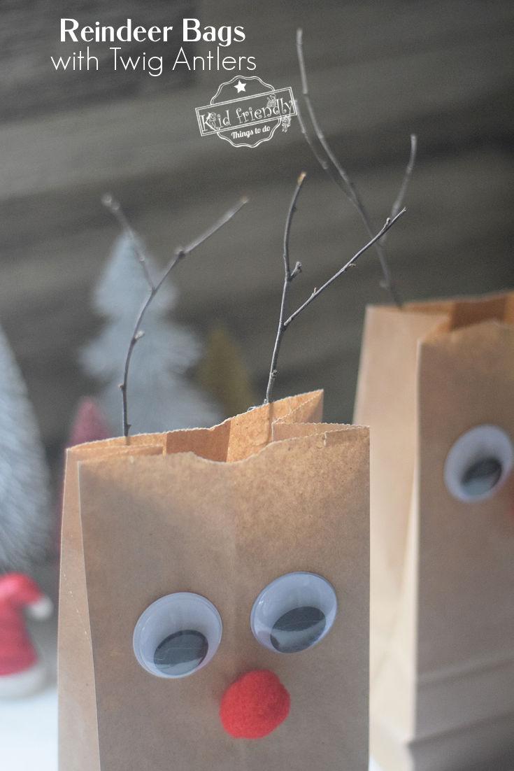 Rudolph Gift Bag Craft