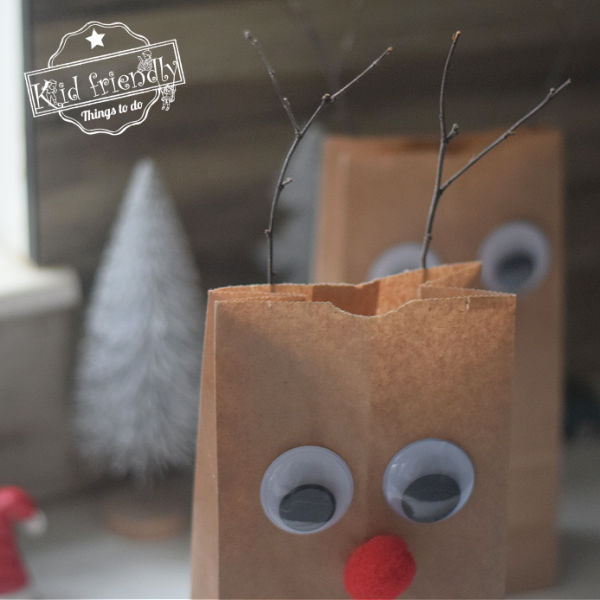 Rudolph Gift Bag Craft {Christmas Gift Bag Idea} | Kid Friendly Things To Do