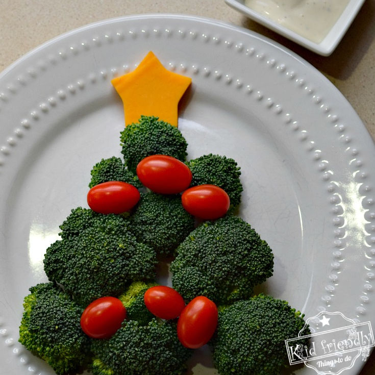 Vegetable Christmas Tree Vegetable Snack for Kids – Kid Friendly Things To Do