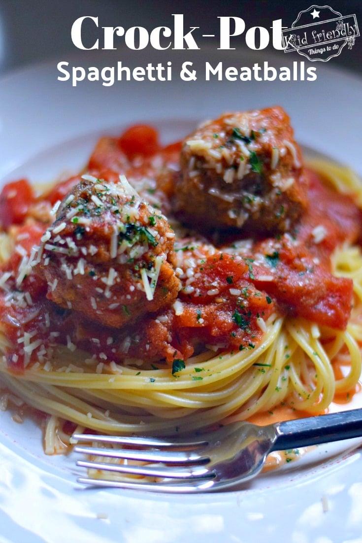 Spaghetti and Meatballs in a Crock Pot Recipe