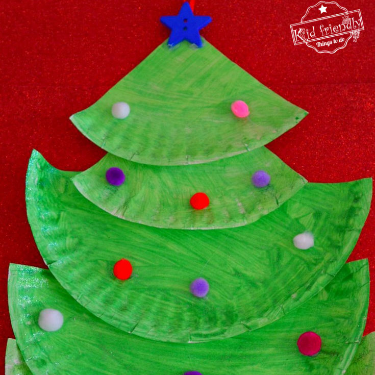Making A Paper Plate Christmas Tree | Kid Friendly Things To Do