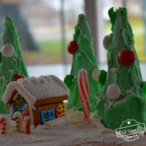 Sugar Cone Christmas Tree Craft for Kids