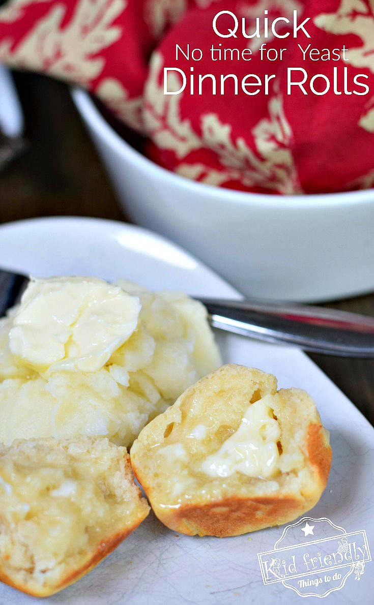 Finally! a delicious, easy, homemade, quick No Yeast dinner roll. A great biscuit, or roll recipe for breakfast, dinner, Thanksgiving, or Christmas!