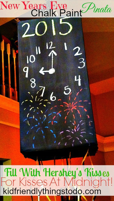 New Year's Eve Chalk Paint Pinata by Kid Friendly Things To Do