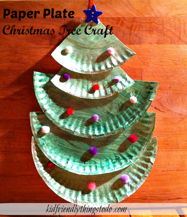Making A Paper Plate Christmas Tree – Crafting With Kids – Kid Friendly Things To Do .com