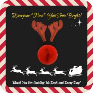 "Everyone ""Nose"" You Shine – Rudolph Free Printable – Kid Friendly Things To Do .com"