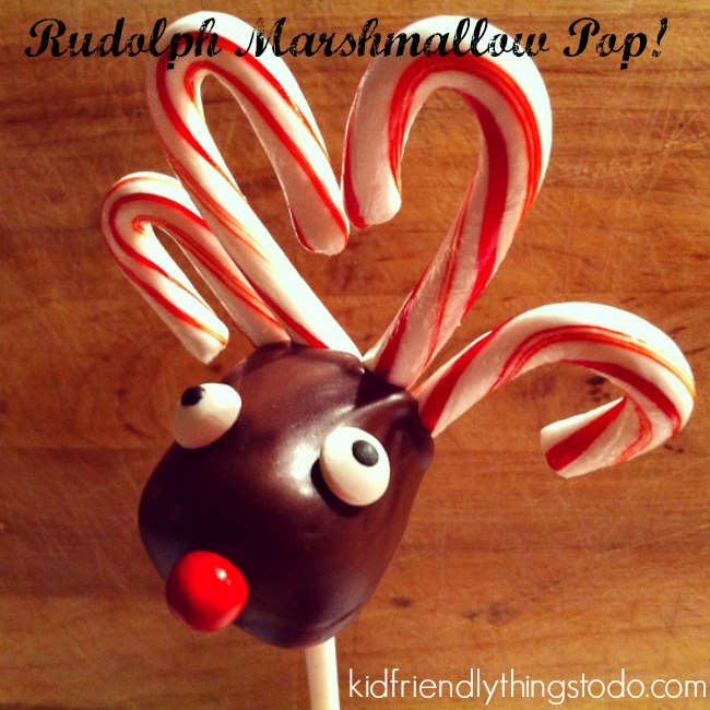 Reindeer Marshmallow Lollipops With Candy Can Antlers Kid Friendly