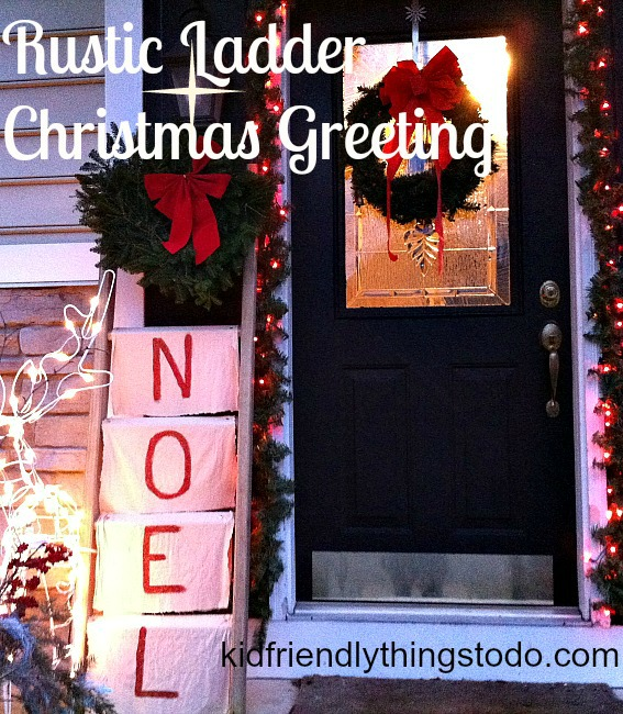 A Rustic Christmas Front Porch Welcome – Kid Friendly Things To Do