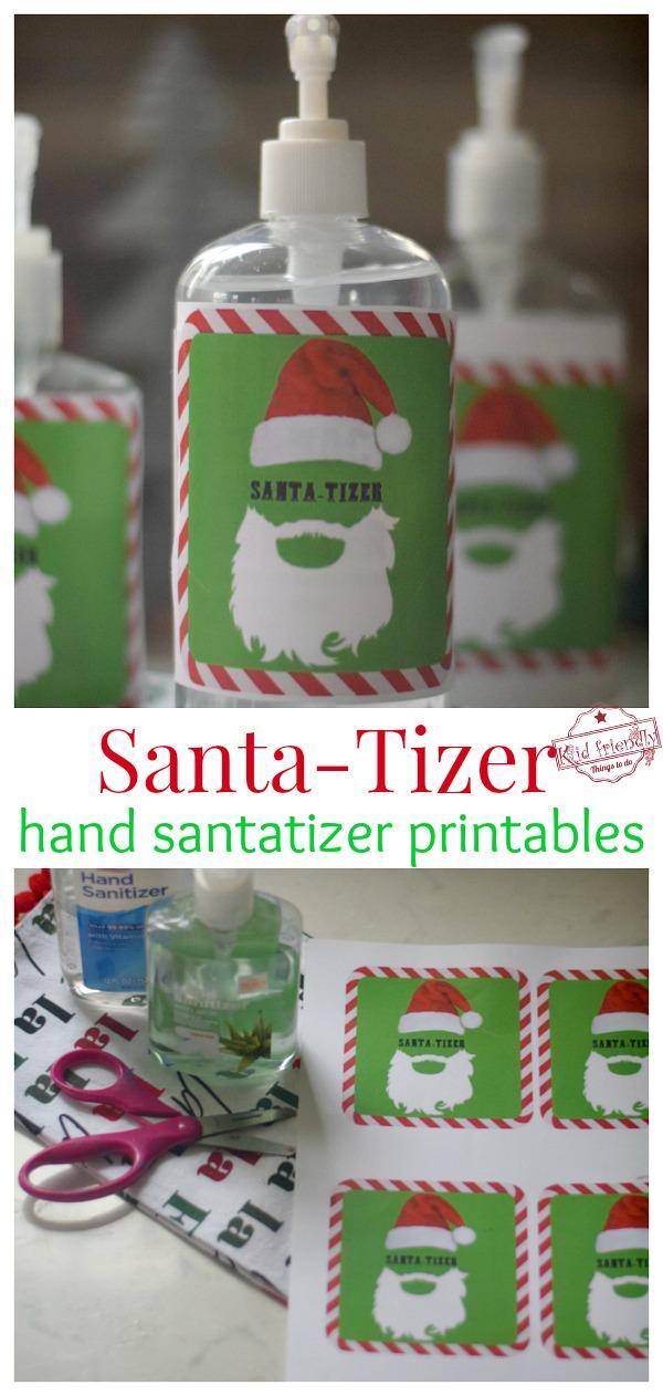 hand santa-tizer bottles