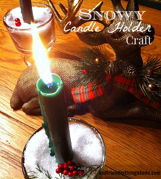 A Christmas Candle Holder Craft {So Easy!} – Kid Friendly Things To Do