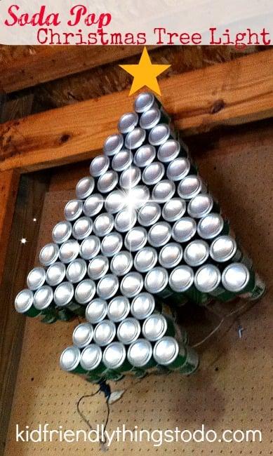 Soda Pop Christmas Tree Light – A Recyle Craft – Kid Friendly Things To Do .com