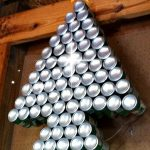 I think this Christmas Tree Light would be so cool on the side of a house! Shimmering during the day, and lit up at night! Also a great Recycling project!