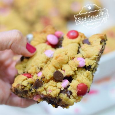 Blonde Brownies with M&Ms