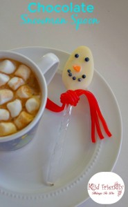 Snowman Hot Chocolate Spoon With Licorice Scarf
