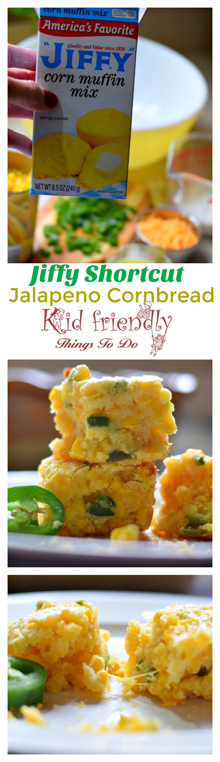 Shortcut Jiffy Jalapeno Cheddar Mexican Cornbread Recipe