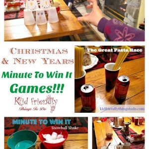 Minute to Win It Games for Christmas and New Year's Eve
