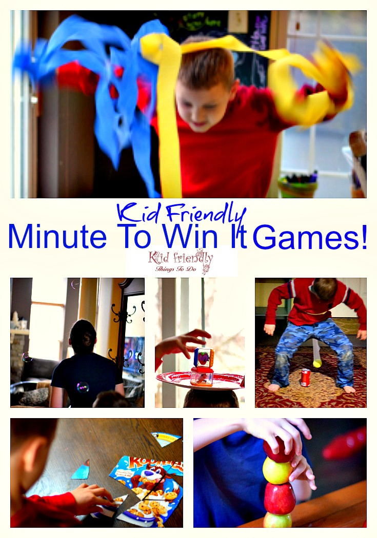 More Awesome Minute To Win It Games that are Kid Friendly and fun for the whole family, including teens! perfect for Christmas - www.kidfriendlythingstodo.com