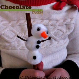 A cute Cinnamon Stick buddy for Hot Chocolate. Cute idea for Hot chocolate Bars!