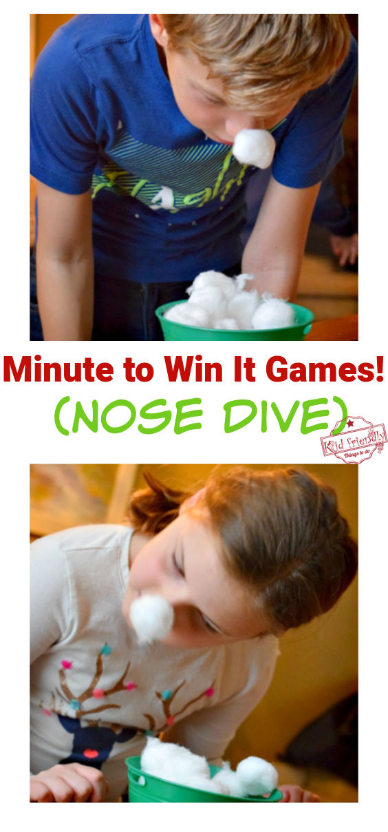 Minute to Win it Games Nose Dive