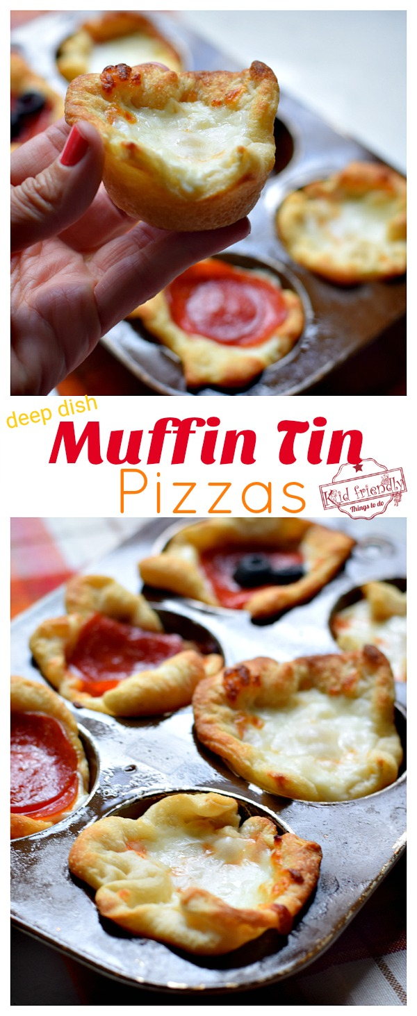Muffin tin pizza recipe